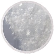 Snowflakes From Heaven 1 Round Beach Towel