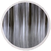 Snowy Forest Round Beach Towel