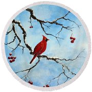 Snowy Wonder Round Beach Towel