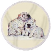 Snuggles  Round Beach Towel