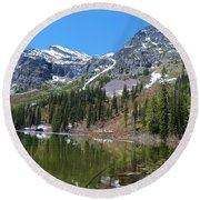 Snyder Lake Round Beach Towel