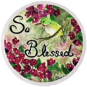 So Blessed Round Beach Towel