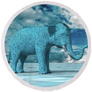 So Blue Without You Round Beach Towel