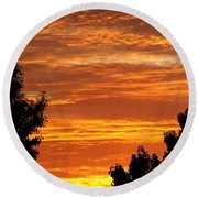 So Cal Sunset Round Beach Towel