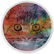 So Handsome And Romantic Round Beach Towel