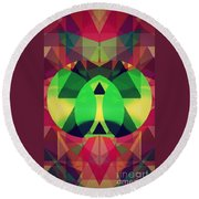 So High On Colors Round Beach Towel