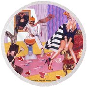Soap Scene #20 Galleria Symbiosis Round Beach Towel