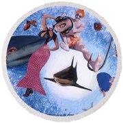 Soap Scene #26 Operation Rescue Round Beach Towel