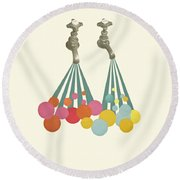 Soapsuds Round Beach Towel