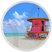 Sobe Lifeguard Round Beach Towel