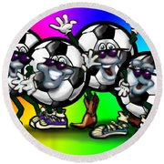Soccer Party Round Beach Towel