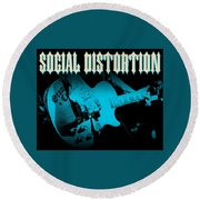 Social Distortion Round Beach Towel