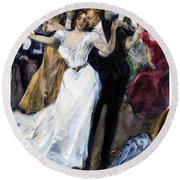 Society Ball, C1900 Round Beach Towel