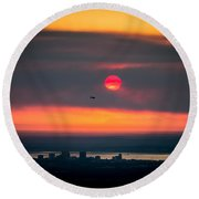 Sockeye Fire Round Beach Towel