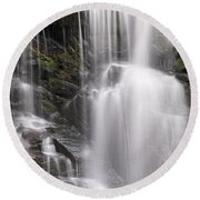 Soco Falls North Carolina Round Beach Towel