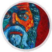 Socrates Look Round Beach Towel