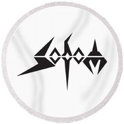 Sodom Round Beach Towel