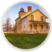 Sodus Point Lighthouse And Museum Round Beach Towel