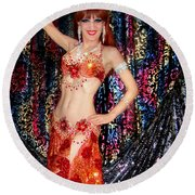 Sofia Metal Queen - Belly Dancer Model At Ameynra Round Beach Towel