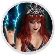 Sofia Metal Queen. Metal Is Lifestyle Round Beach Towel