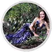Sofia Of Ameynra. Cybergoth Belly Dancer Round Beach Towel