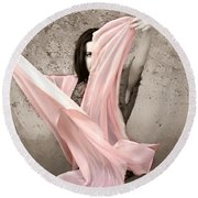 Soft And Sensual Round Beach Towel