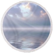 Soft And Sublime Round Beach Towel