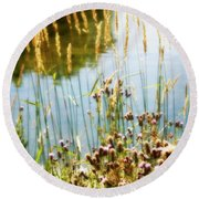 Soft And Surreal Round Beach Towel