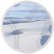 Soft Enchantment Round Beach Towel