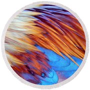 Soft Feather Palette Round Beach Towel