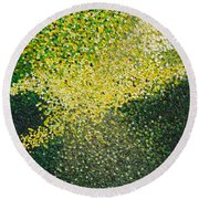 Soft Green Light  Round Beach Towel