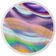 Soft Hues Round Beach Towel