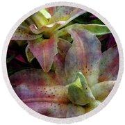 Soft Lilies 3637 Idp_2 Round Beach Towel