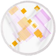 Soft Orange And Delicate Pink Round Beach Towel