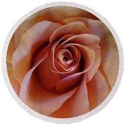 Soft Peach Rose Round Beach Towel