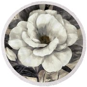 Soft Petals I Round Beach Towel