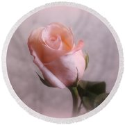 Soft Pink Rose Round Beach Towel