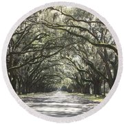 Soft Southern Day Round Beach Towel