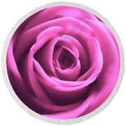 Soft Touch Pink Rose Round Beach Towel