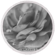 Softly I Wilt Round Beach Towel