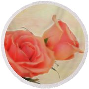 Softly Peach Round Beach Towel