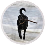 Soggy Stick Round Beach Towel