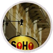 Soho Wine Bar Round Beach Towel