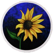 Sol Flower Round Beach Towel
