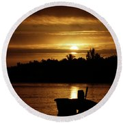 Solar Charged  Round Beach Towel