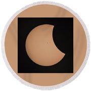 Solar Eclipse 1333 Round Beach Towel