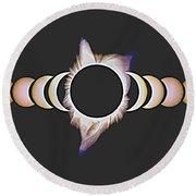Solar Eclipse, 25 Round Beach Towel