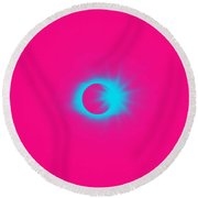 Solar Eclipse, 31 Round Beach Towel