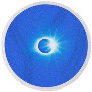 Solar Eclipse, 32 Round Beach Towel