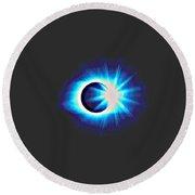Solar Eclipse, 36 Round Beach Towel